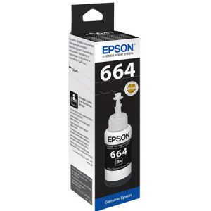 Epson T6641 Black 70ml Ink Bottle 1